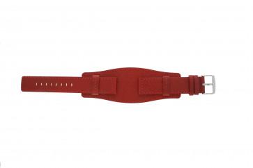 Davis Uhrenarmband B0223 Leder Rot 20mm
