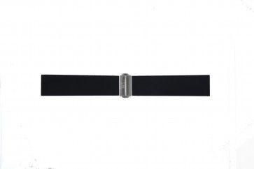 Davis Uhrenarmband BB0881 Gummi Schwarz 22mm