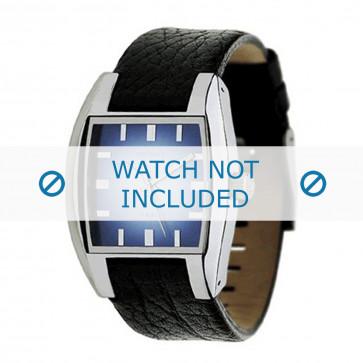 Uhrenarmband Diesel DZ1032 Leder Schwarz 17mm