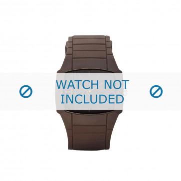 Diesel Uhrenarmband DZ1386 Kunststoff Braun 28mm