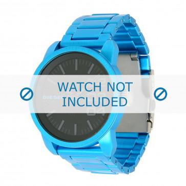 Diesel Uhrenarmband DZ1468 Aluminium Blau 24mm