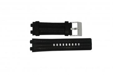 Uhrenarmband Diesel DZ4118 / DZ4119 Leder Schwarz 20mm