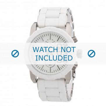 Diesel Uhrenarmband DZ5306 Rostfreier Stahl Weiss 22mm
