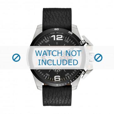 Uhrenarmband Diesel DZ4361 Leder Schwarz 24mm