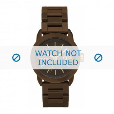 Diesel Uhrenarmband DZ5261 Rostfreier Stahl Braun 20mm