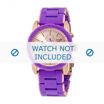 Diesel Uhrenarmband DZ5361 Silikon Lila 22mm