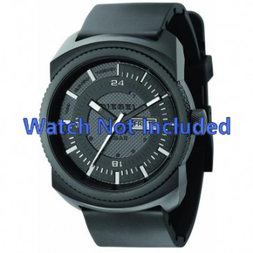 Uhrenarmband Diesel DZ1262 Kautschuk Schwarz 26mm