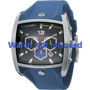 Diesel Uhrenarmband DZ4164 Silikon Blau 28mm