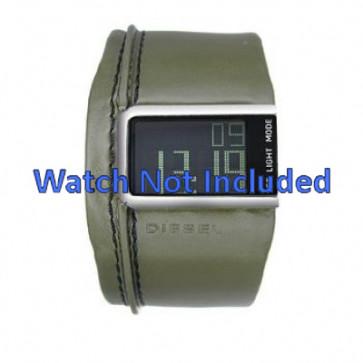 Uhrenarmband Diesel DZ7053 Leder Grün 28mm