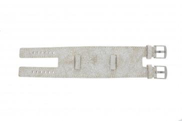 Uhrenarmband Universal UI30 Leder Weiss 24mm