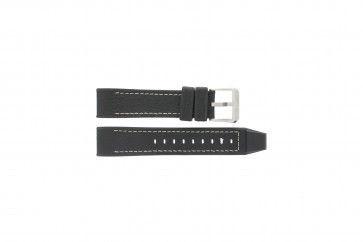 Festina Uhrenarmband F16183/40 Leder Schwarz 22mm + weisßen Nähten