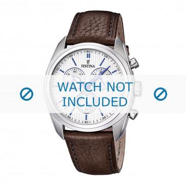 Uhrenarmband Festina F16779-2 / F16784-1 Leder Braun 24mm
