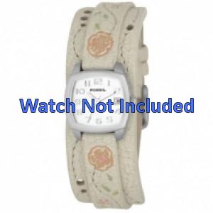 Fossil Uhrenarmband JR-8782 Leder Creme weiß 12mm