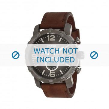 Fossil Uhrenarmband JR-1424 Leder Braun 24mm