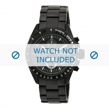 Fossil Uhrenarmband CH2601 Metall Schwarz 22mm