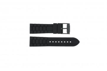Uhrenarmband Fossil FS4487 / FS4628 / FS4605 / JR1425 Silikon Schwarz 24mm