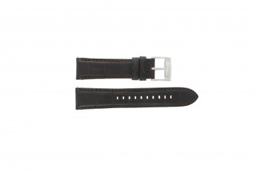 Fossil Uhrenarmband FS4672 Leder Schwarz 22mm + standardnähte