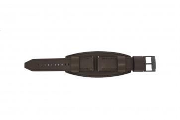 Fossil Uhrenarmband JR1365 Leder Dunkelbraun 22mm