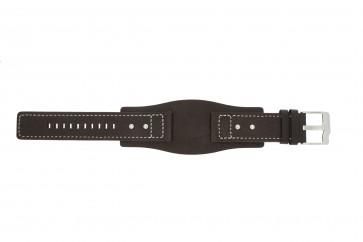 Fossil Uhrenarmband JR9990 Leder Braun 24mm