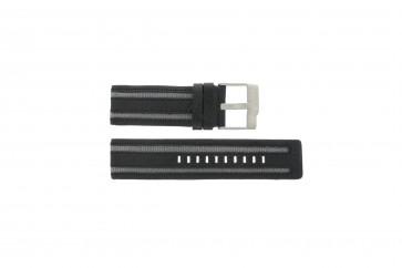Uhrenarmband Fossil JR9934 Leder Schwarz 26mm