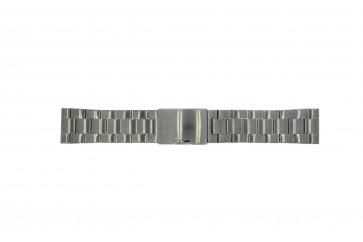 Fossil Uhrenarmband FS4662 / 12XXXX / 25XXXX Metall Anthrazitgrau 24mm