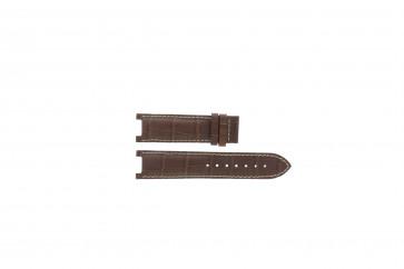 Guess Uhrenarmband GC31000G1 / GC31000G / X44001G1 / I31000G1 / i31000G1 Leder Braun 21mm + weiße nähte