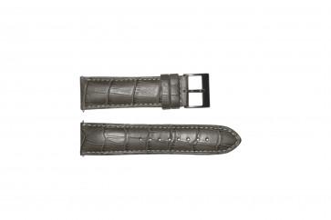 Uhrenarmband Guess W12089G2 / W0079G1 Leder Grau 22mm