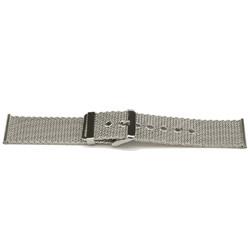 Geen merk Uhrenarmband YI47 Metall Silber 24mm