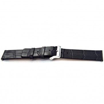 Uhrenarmband Universal I810 Leder Grau 24mm