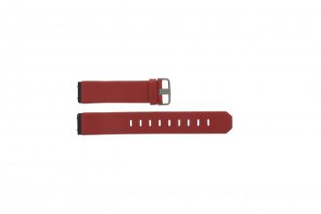 Jacob Jensen Uhrenarmband echtes Leder rot 800 Serie 17mm