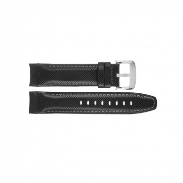 Uhrenarmband Jaguar J650-1 LD Leder Schwarz 22mm