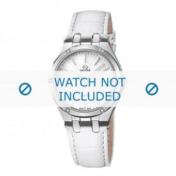 Jaguar Uhrenarmband J674-1 / J674-7 Leder Weiss + weiße nähte