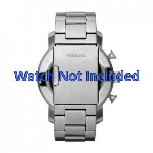 Fossil Uhrenarmband JR1353 Metall Silber 24mm