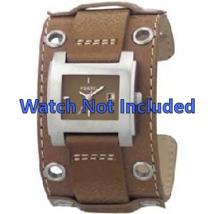 Fossil Uhrenarmband JR8149 Leder Braun 18mm + standardnähte