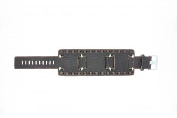 Fossil Uhrenarmband JR-8985 Leder Braun 22mm