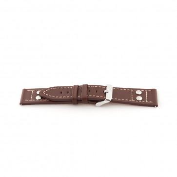 Uhrenarmband Universal H365 Leder Braun 22mm