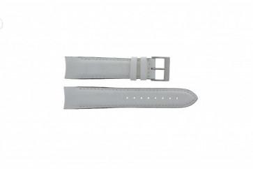 Nautica Uhrenarmband A24514G Leder Weiß 22mm