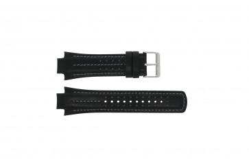 Uhrenarmband Pulsar YM62-X236 / PF3971X1 / PH083X Leder Schwarz 15mm