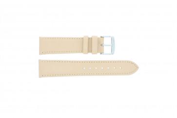Echtes leder Uhrenarmband creme / beige 24mm 283