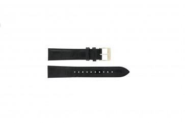 Seiko Uhrenarmband 7N32-0DE0 Leder Schwarz 18mm