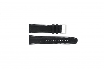 Uhrenarmband Seiko 7T62-0HL0 / SNAB55P1 Leder Schwarz 24mm