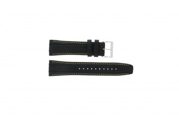 Uhrenarmband Seiko 7T62-0HL0 / SNAB57P1 / 4LP3JB Leder Schwarz 24mm