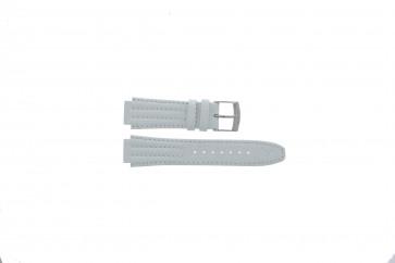 Uhrenarmband Seiko 7T92-0HD0 / SND875P1 / 4LE7JB Leder Weiss 16mm