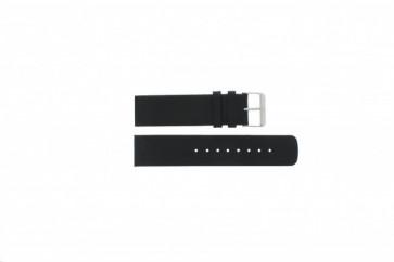 Uhrenarmband Skagen 224LSL / 224LSLB / 224LSLN Leder Schwarz 22mm
