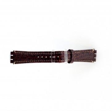Uhrenarmband braun croco für Swatch 19mm ES- 2.02