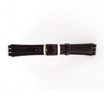 Uhrenarmband Swatch (alt.) 21412.27 Leder Braun 19mm