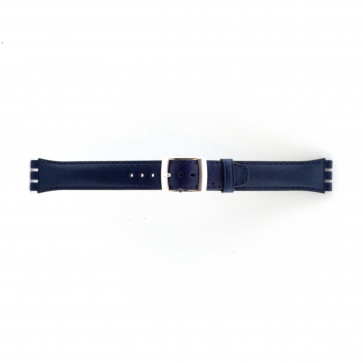 Uhrenarmband Swatch (alt.) 51643.06.MB Leder Blau 19mm