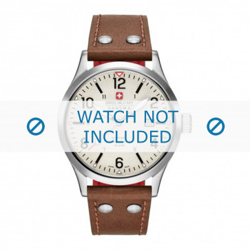 Uhrenarmband Swiss Military Hanowa 06-4280.04.002.05 Leder Cognac 22mm