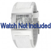 Uhrenarmband Diesel DZ7043 Leder Weiss 24mm