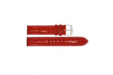 Timex Uhrenarmband T2M709 Leder Rot 18mm